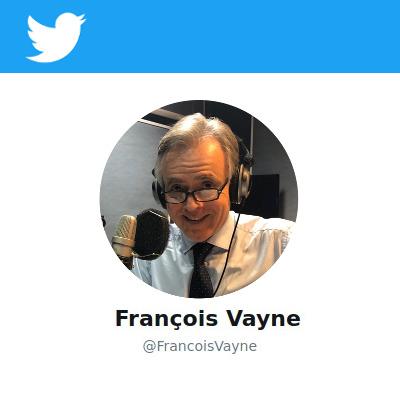 Compte Twitter de François Vayne